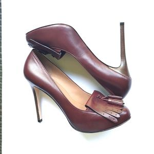 NWT Ann Taylor Kendra oxford heels leather brown